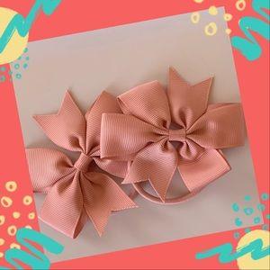 👶5/$25 Petal Peach Elastic Hair Ties Ponytail